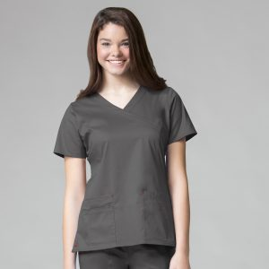 BLOSSOM LINE 1202 LADIES 3-POCKET FASHION V-NECK