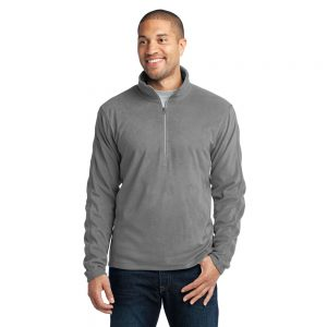 F224 PORT AUTHORITY UNISEX MICROFLEECE 1/2-ZIP PULLOVER