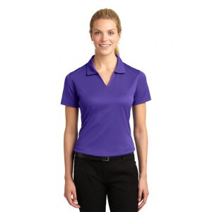 SPORT-TEK® LADIES DRI-MESH® V-NECK POLO L469