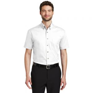 PORT AUTHORITY® SHORT SLEEVE TWILL SHIRT S500T