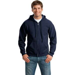 HEAVY BLEND FULL ZIP HOODED SWEATSHIRT 18600