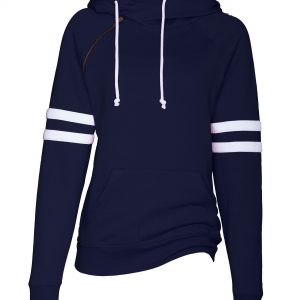 ENZA LADIES VARSITY DOUBLE HOOD SWEATSHIRT EZ373