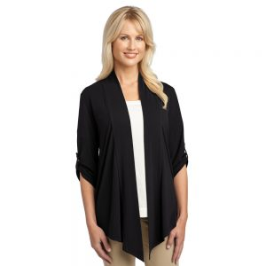 SHRUG CARDIGAN WITH BUTTON TAB ON SLEEVES L543
