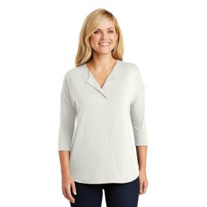 LK5433 Port Authority® Ladies Concept 3/4-Sleeve Soft Split Neck Top