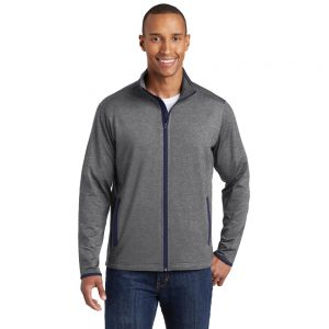 SPORT-TEK® SPORT-WICK® STRETCH CONTRAST FULL-ZIP JACKET ST853