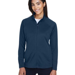 DG4L DEVON & JONES LADIES' STRETCH TECH-SHELL™ COMPASS FULL-ZIP
