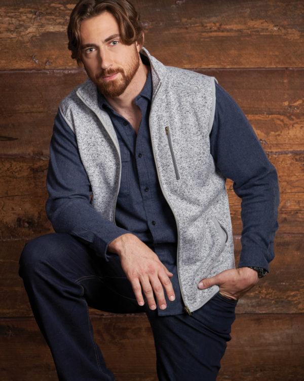 BU437 Burnside® Sweater Fleece Vest