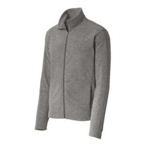 Port Authority® Heather Microfleece Full-Zip Jacket F235